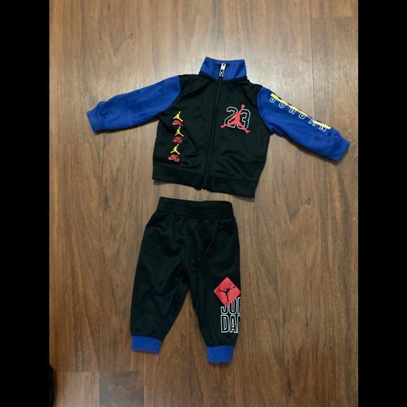 Jordan 2 piece zip up track suit 3-6 months